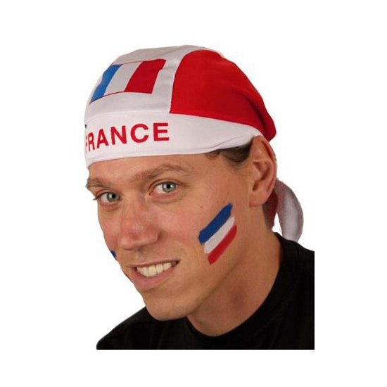 France bandana blauw wit rood