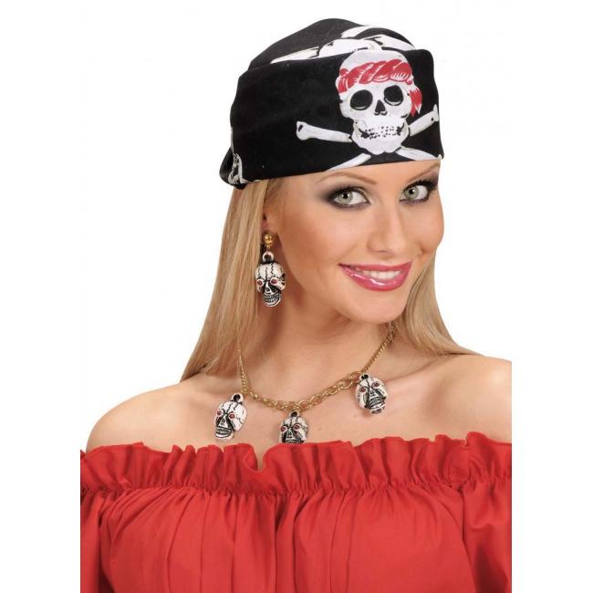 Piraat bandanas met doodskoppen