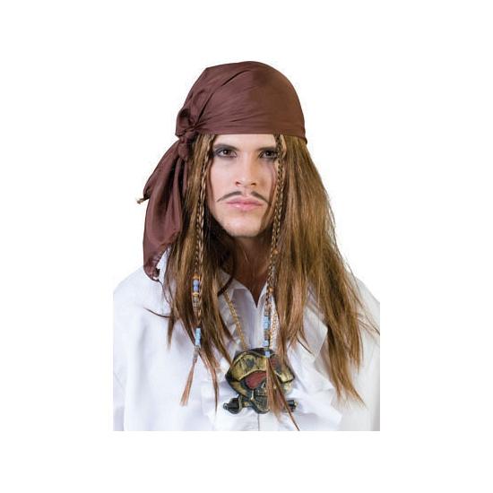 Pruik en bandana piraat