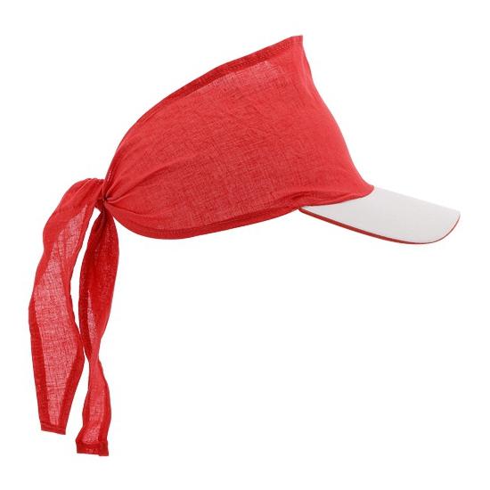 Rode bandana zonnekleppen