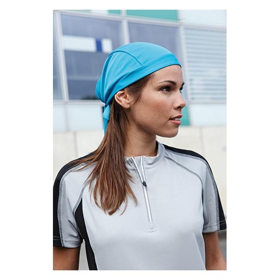 Turkoois blauwe sport bandana