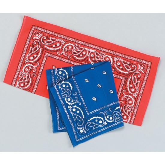 Verkleedaccessoires blauwe bandana