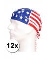 12 amerikaanse vlag bandana s