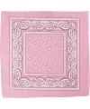 Bandana roze 55x55 cm