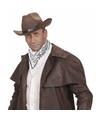 Witte cowboy bandana zakdoek 55 x 55 cm