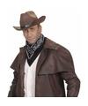 Zwarte cowboy bandana zakdoek 55 x 55 cm