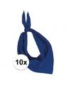 10x zakdoek bandana kobalt blauw