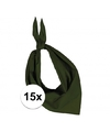 15x zakdoek bandana olijf groen