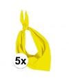 5x zakdoek bandana geel