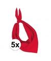 5x zakdoek bandana rood